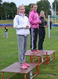 Julia Lukkala voitti T13 4-ottelun omilla ennätyspisteillä.