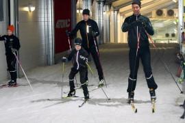 Uudenkaupungin kuntoputken ladulla riitti viikonloppuna eri-ikäisiä hiihtäjiä.