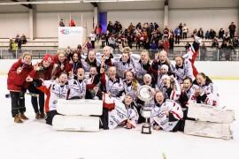 Laitilan Jyskeen ringeten b-tytöt voittivat Suomen mestaruuden.
