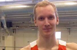 Joni Vainio-Kaila voitti helmikuussa hallikisoissa SM-kultaa 300 metrin aidoissa.