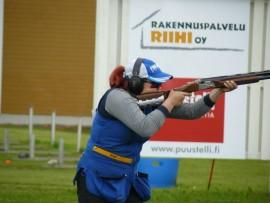 SM-kisoissa Niina Aaltonen ampui tuloksen 62. Kuva: Marko Kaukonen