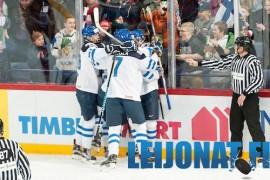 Suomi pääsi Venäjä-Suomi-ottelussa neljä kertaa juhlimaan maalia. Kuva: Matti Nenonen/Suomen Jääkiekkoliitto