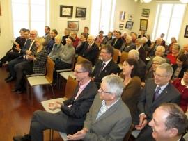 Kulttuuriviikon avajaisia vietettiin Lukutuvan Fredrika-salissa sunnuntaina. Kuva: Eija Eskola-Buri