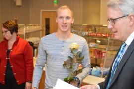 Joni Vainio-Kaila valittiin vuoden urheilijaksi. Kuva: Juhani Marttala