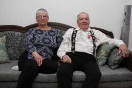 Kirsti ja Matti Iso-Heiko ostivat vuosi sitten asunnon Laitilan keskustasta, Matin synnyinseudulta. Kuva: Hanna Hyttinen