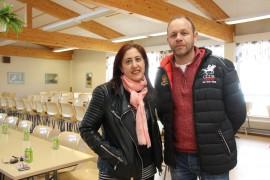Emilia Aguado ja Michel Rios oppilaineen viihtyivät Laitilassa. Kuva: Hanna Hyttinen