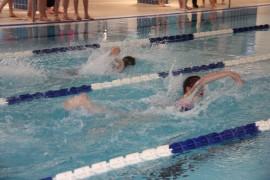Laitilassa järjestettiin koulujen väliset uintikilpailut keskiviikkona. Mukana edustajat kaikista Laitilan alakouluista. Yhteensä kilpailijoita oli hieman alle 90. Kuva: Hanna Hyttinen