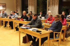 Pyhärannan valtuusto saa käsiteltäväkseen kuntaliitosaloitteen. Kuva on viime marraskuun kokouksesta.